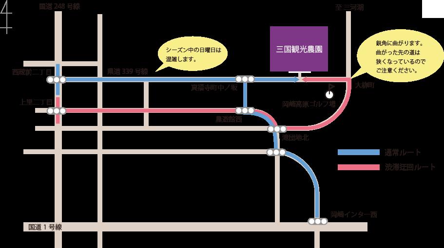 迂回路地図